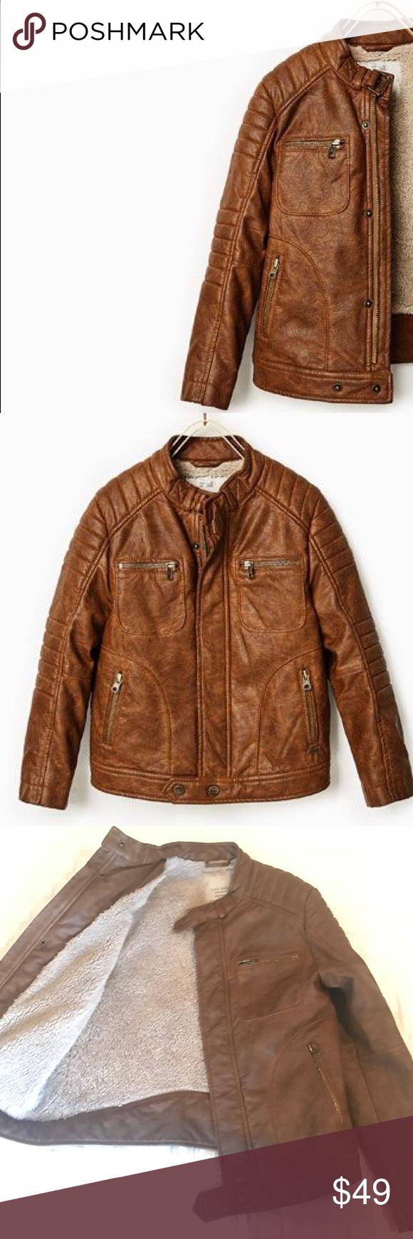 Boys Zara Faux Leather Bomber Jacket Faux Leather Bomber Jacket Jackets Bomber Jacket [ 1740 x 580 Pixel ]