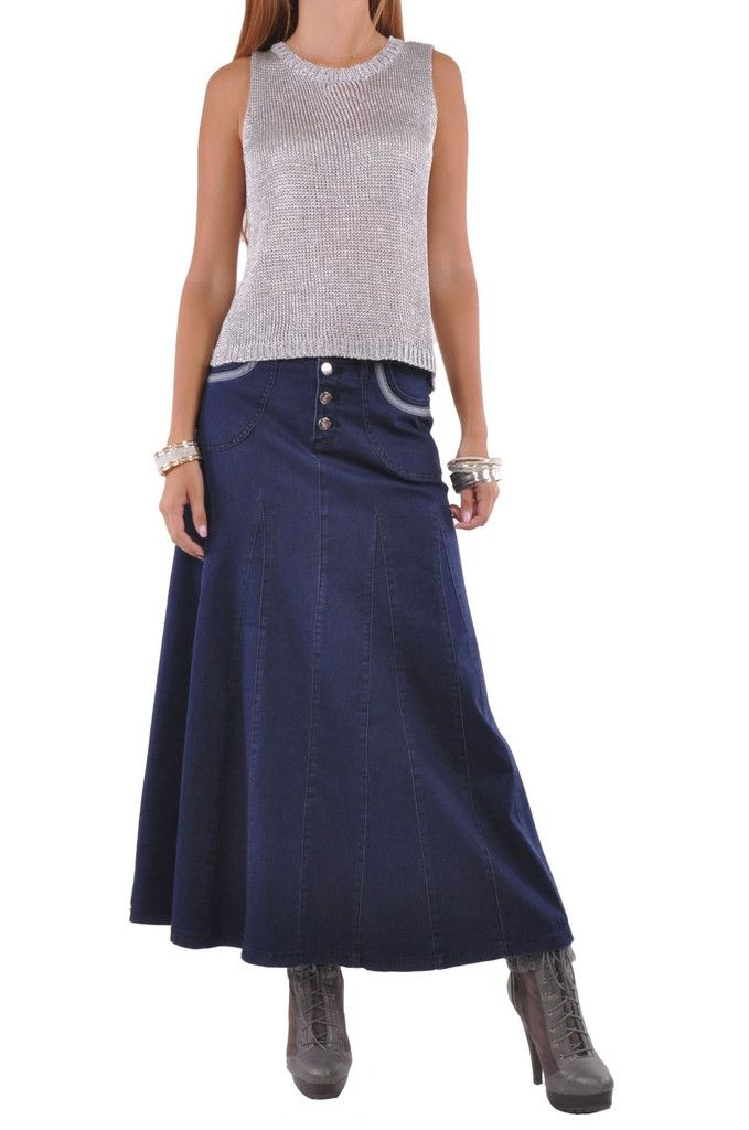 The cut of this denim skirt 484c41826075