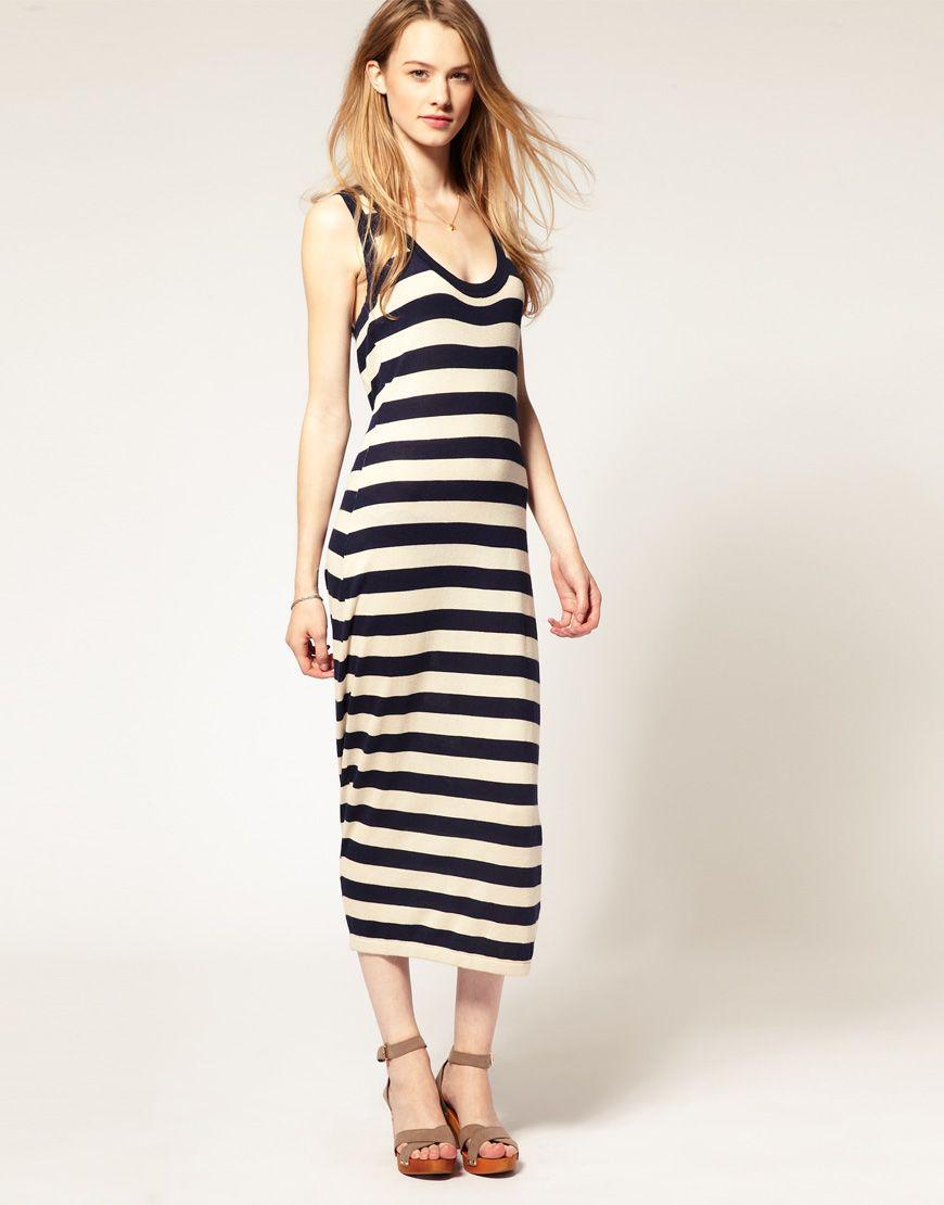 Hilfiger denim stripe maxi dress style inspirations pinterest
