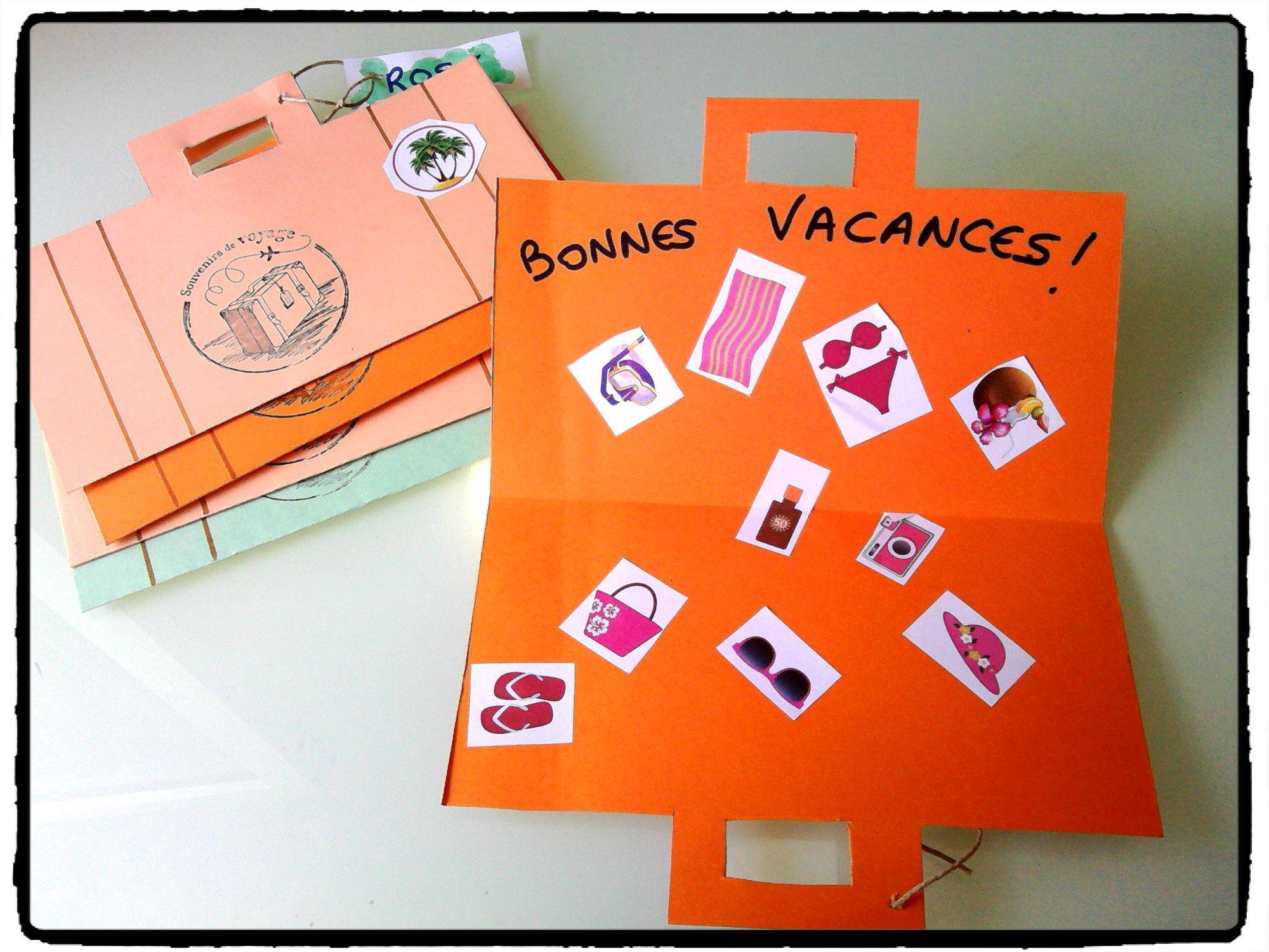 Relativ valise de voyage, vacances, été, bricolage enfant | Vacances et  NJ94