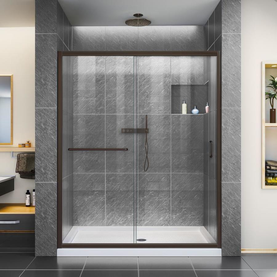 Dreamline Infinity Z 72 In H X 56 In To 60 In W Semi Frameless Bypass Sliding Oil Rubbed Bronze Shower Door Shdr 0960720 In 2020 Frameless Sliding Shower Doors Shower Doors Shower Enclosure