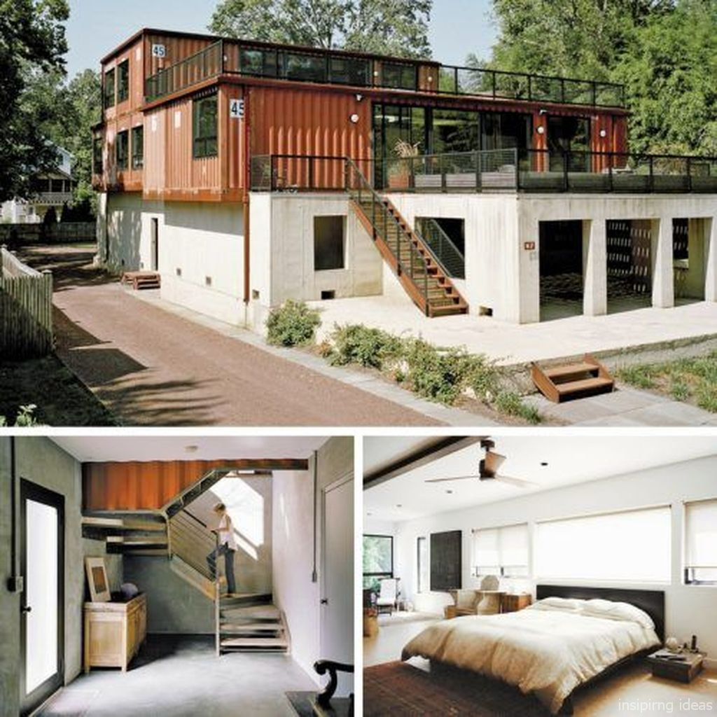 Simple Shipping Container Homes: Modern Container House Design Ideas 97