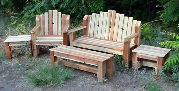 Superieur Skids For Patio Furniture | Redwood Patio Set Patio Furniture Is Available  By Special Order