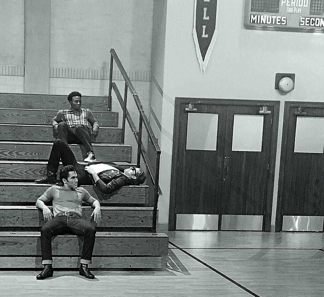 5-minute break at the #GreaseLive rehearsals