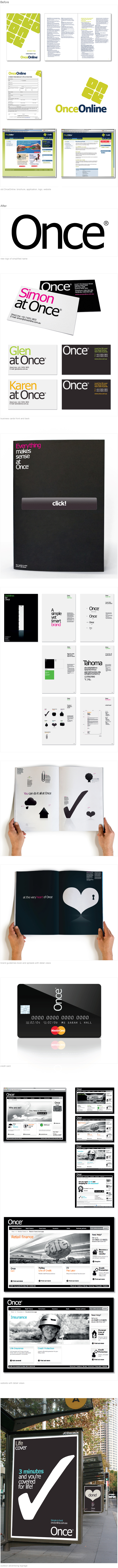 'Once' branding and design