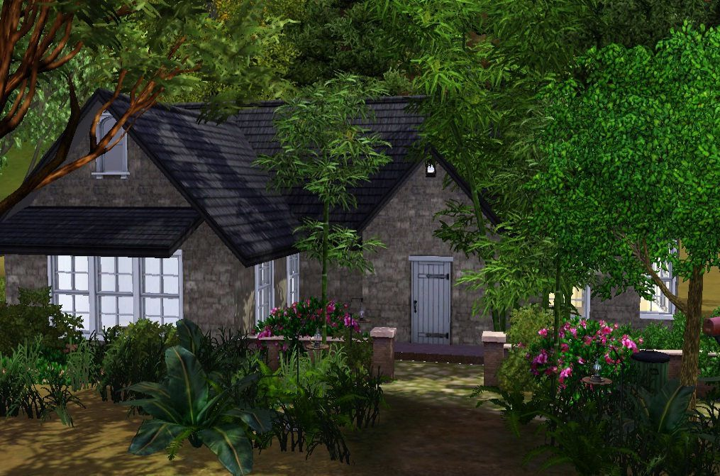 Pin By B On Bungalows Cottages Ranches Oh My Twilight House Cottage Sims 4 Houses