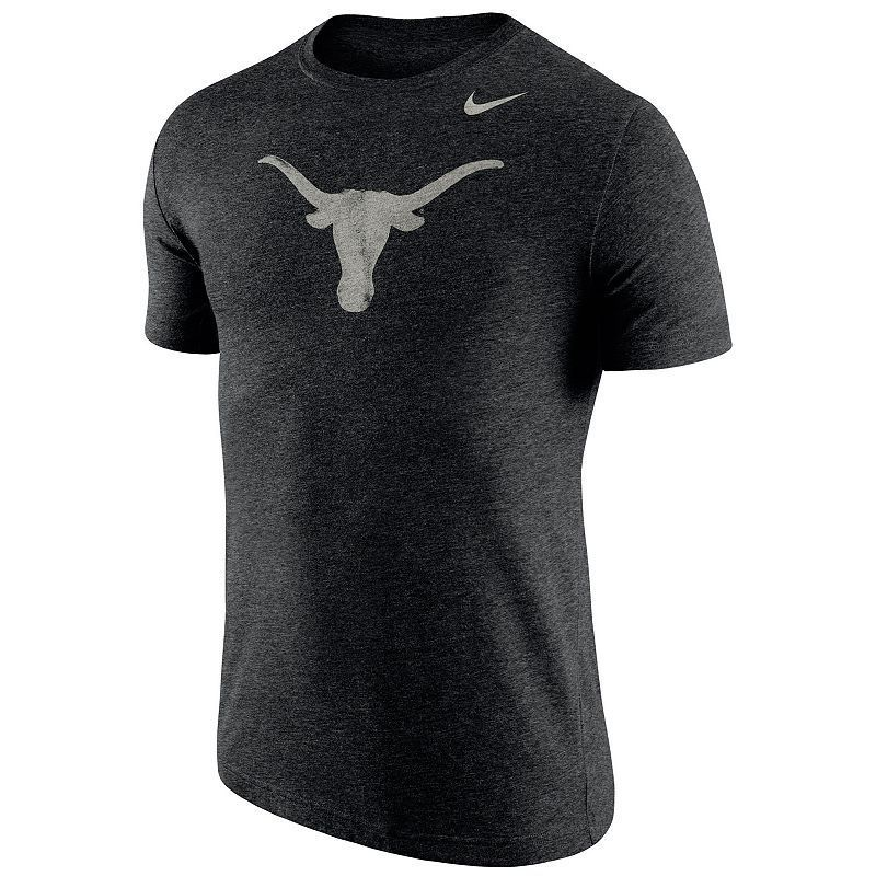 Virginia Tech Hokies Nike Stamp Tri-Blend T-Shirt - Heathered Black