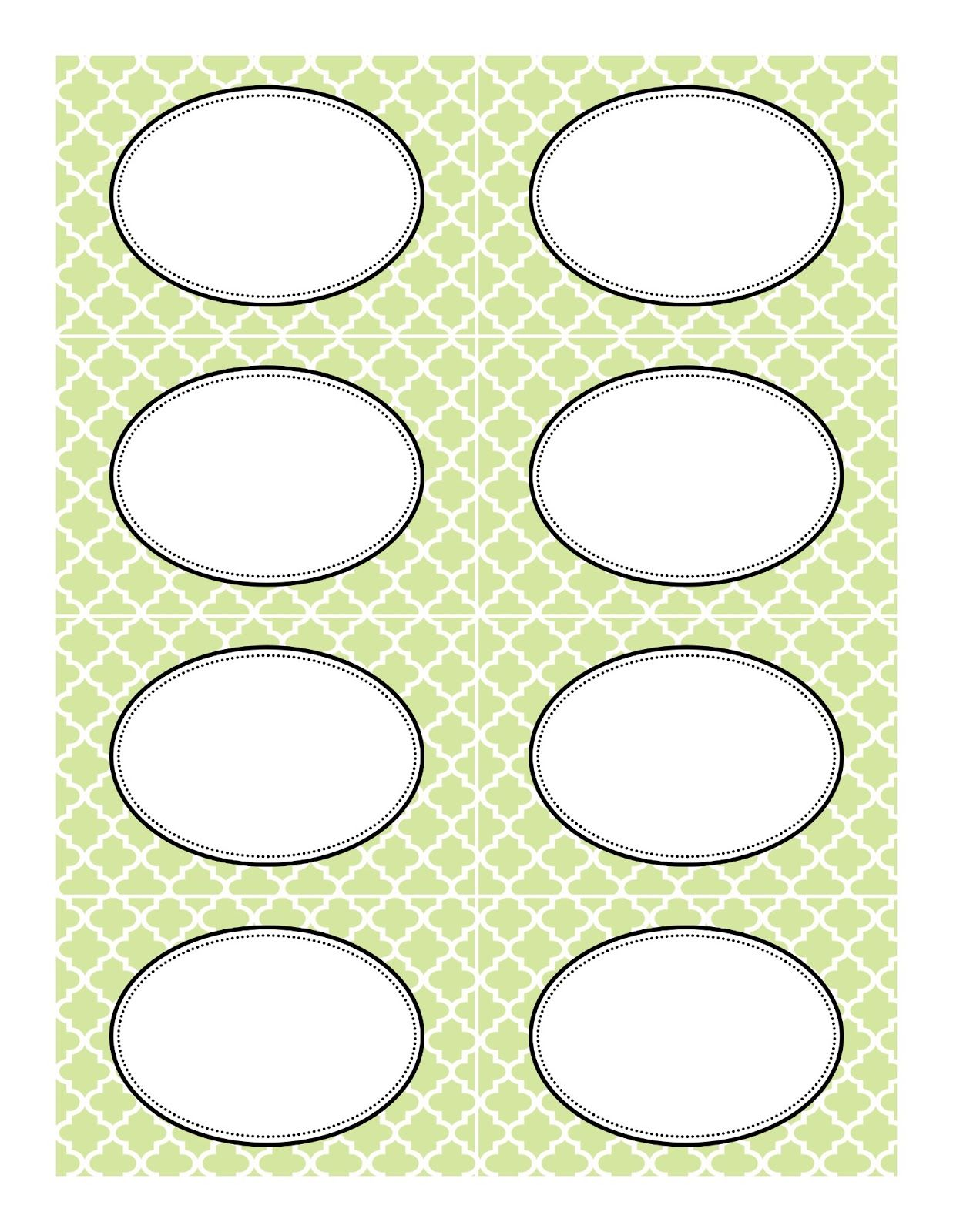 Free Printable Labels In A Few Different Colors And Patterns That ...