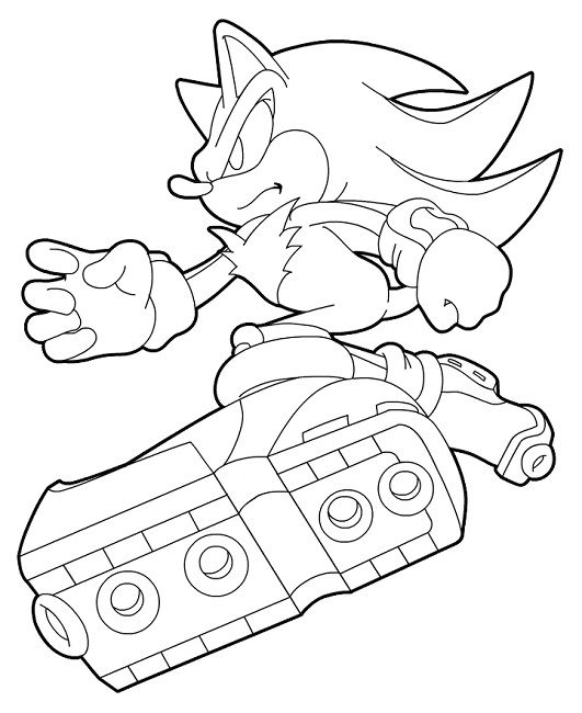 Sonic Shadow Coloring Pages Print Hedgehog Colors Shadow The Hedgehog Coloring Pages
