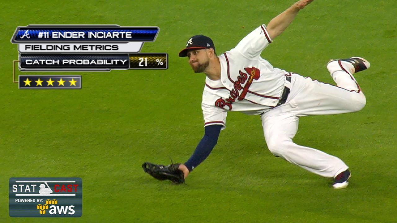 Ender Inciarte Of The Atlanta Braves Celebrates After Knocking In A Atlanta Braves Atlanta Braves Baseball Braves