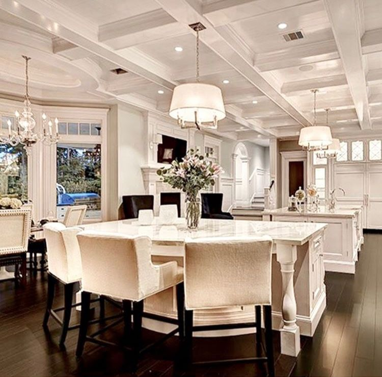 This is just elegant and beautiful not sure  want to go completely farmhouse would love some touches luxury kitchens kitchen home decor also rh pinterest