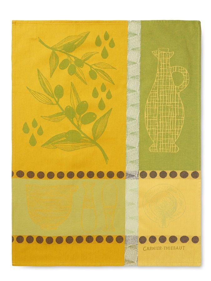 Huile D'Olive Kitchen Towels by Garner-Thiebaut