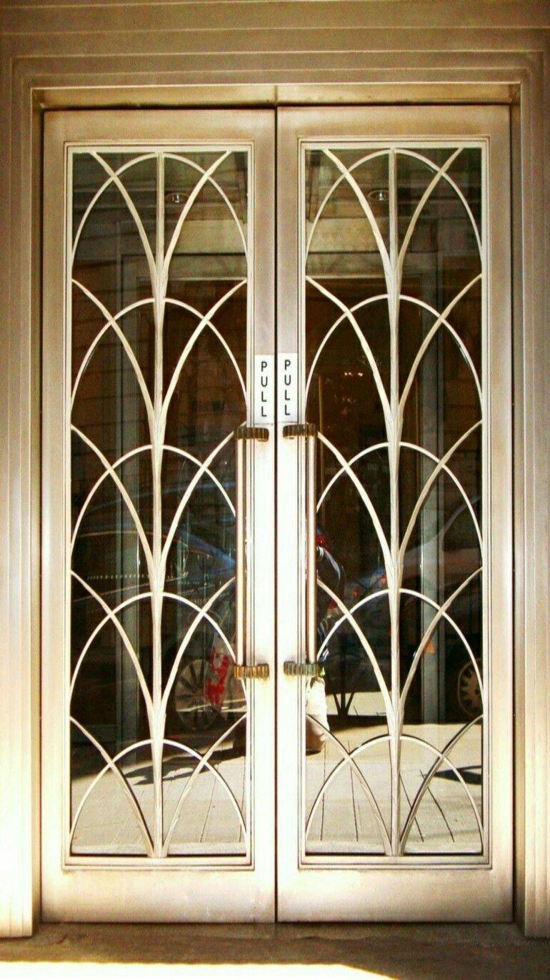Art Deco Style Living Room: Art Nouveau/Art Deco Style Double Doors.