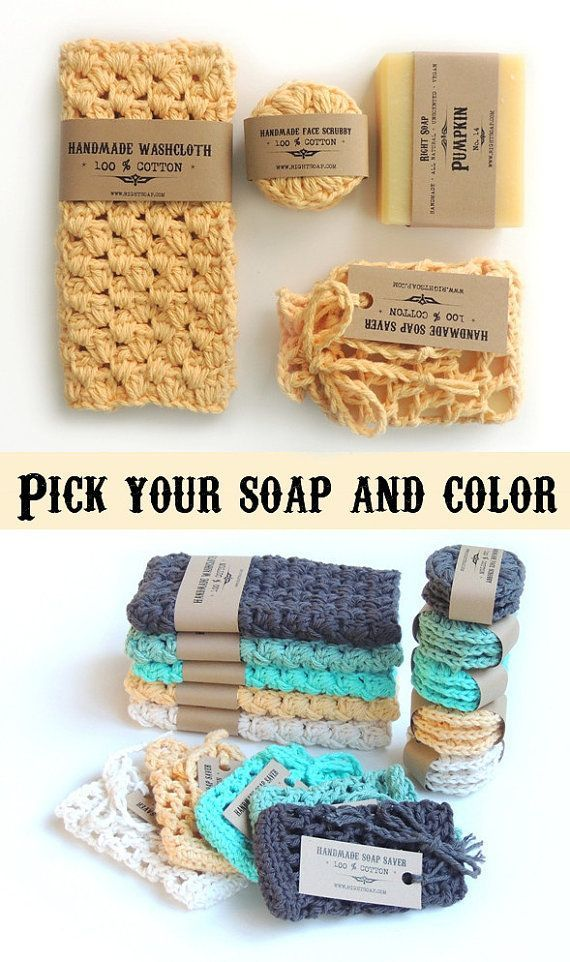 Women Stocking Stuffer | Christmas Gifts For Mom Sister Coworker Wife | Bath Gift Set | Natural Soap and Bath Accessories - Washcloth - Ideas of Washcloth #Washcloth - This listing is for : 1 soap bar (4.5 oz) all natural unscented soap 1 washcloth 1 soap saver 3 face scrubbies color of cotton you pick Great gift #coworkerchristmasgiftideas