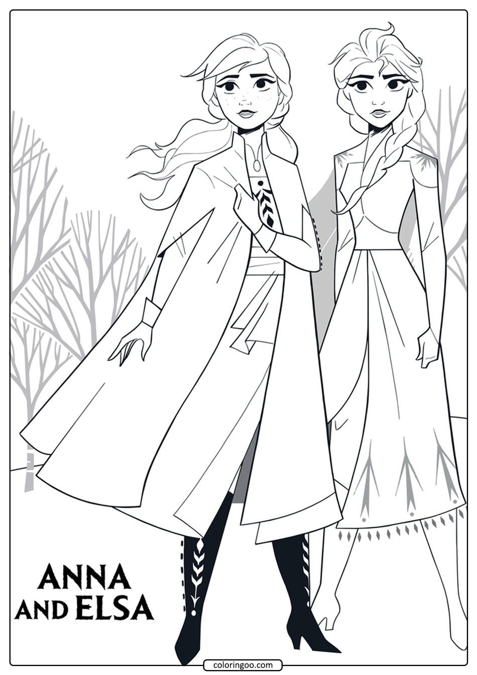 Anna And Elsa Coloring Pages In 2020 Disney Princess Coloring Pages Princess Coloring Pages Frozen Coloring