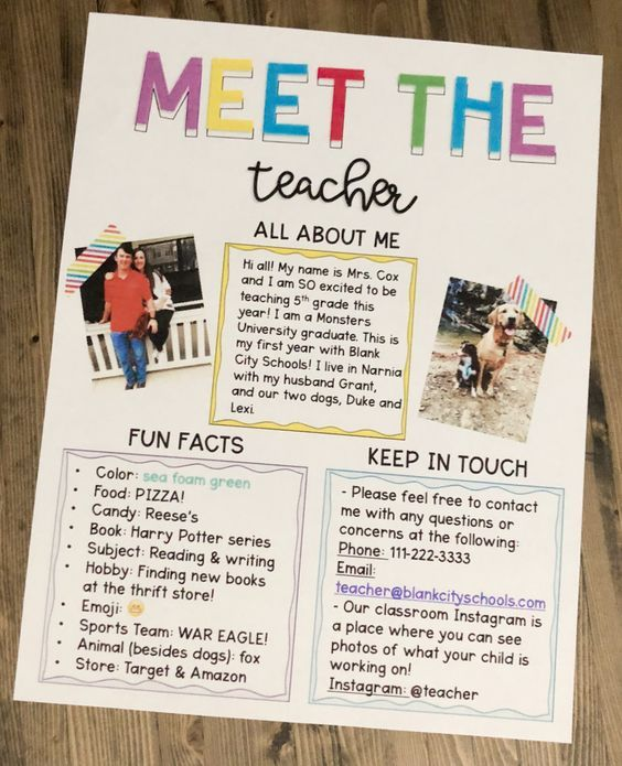 Photo of Meet The Teacher Letter – Editable!