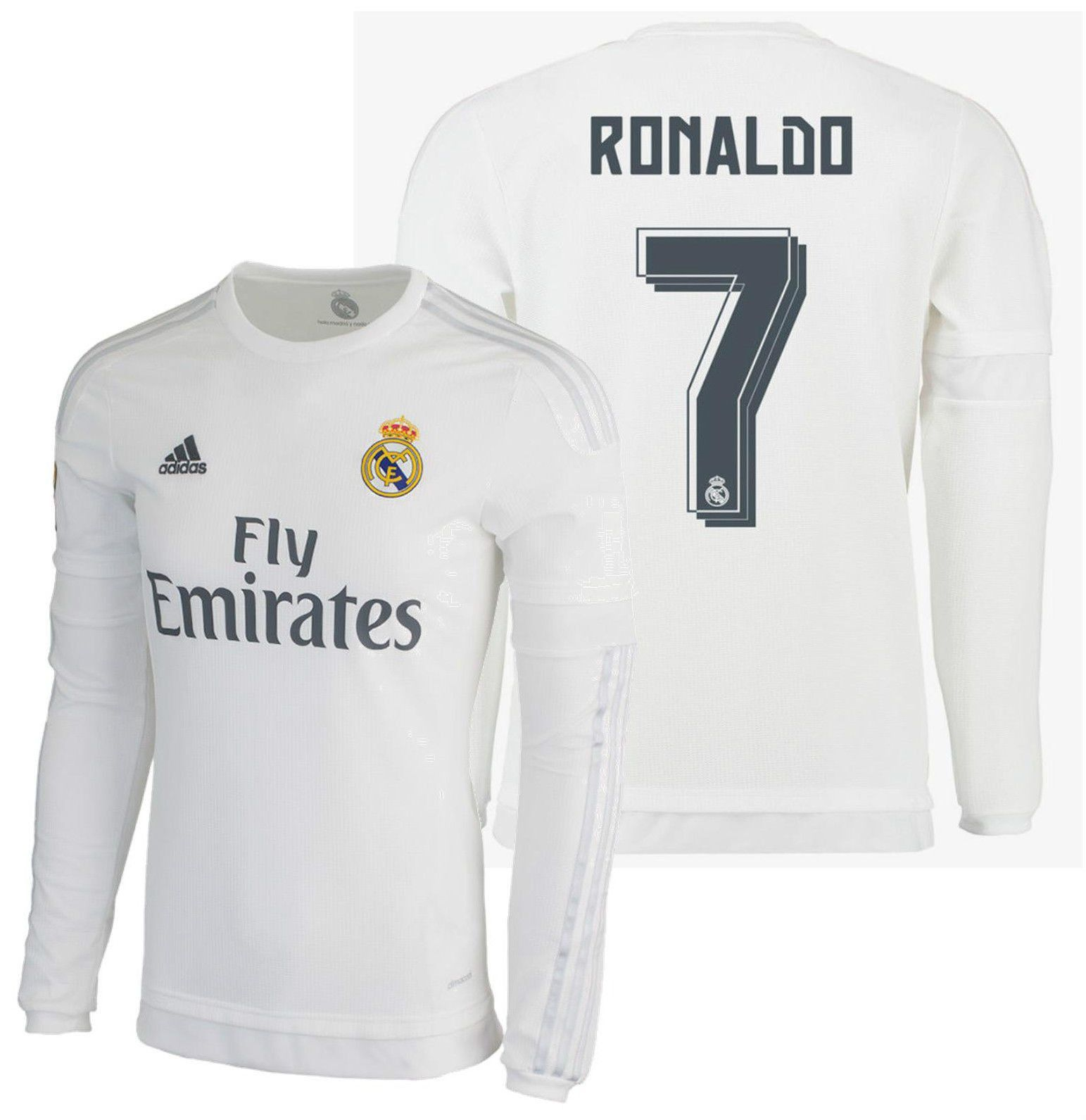 4af7941fbf2 Adidas cristiano ronaldo real madrid long sleeve home jersey 2015 16 ...