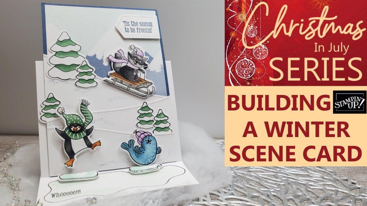 ️building a scene card  create a holiday scene card  how