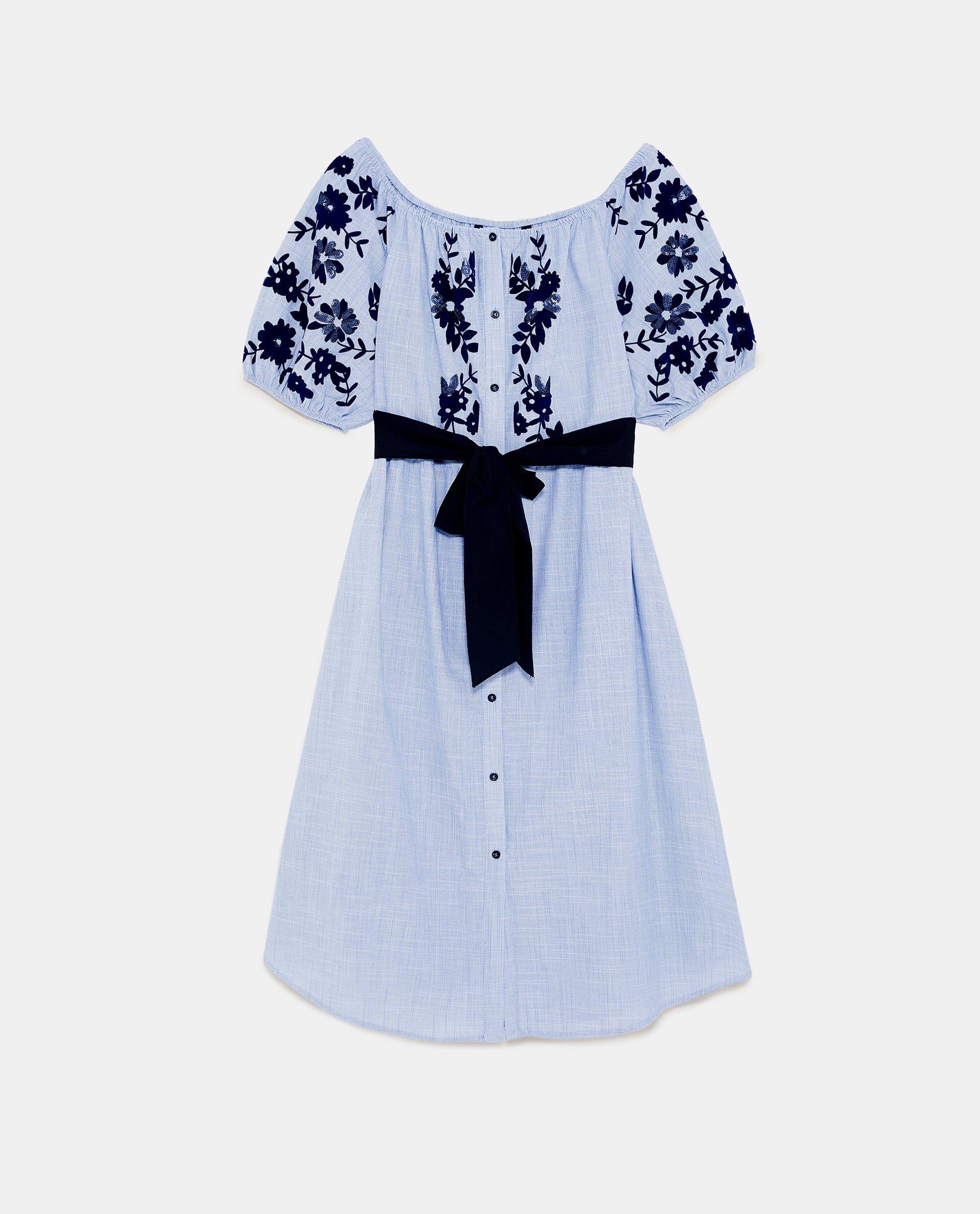 Image 15 of FLOCKED PRINT DRESS from Zara  Kate middleton kleid