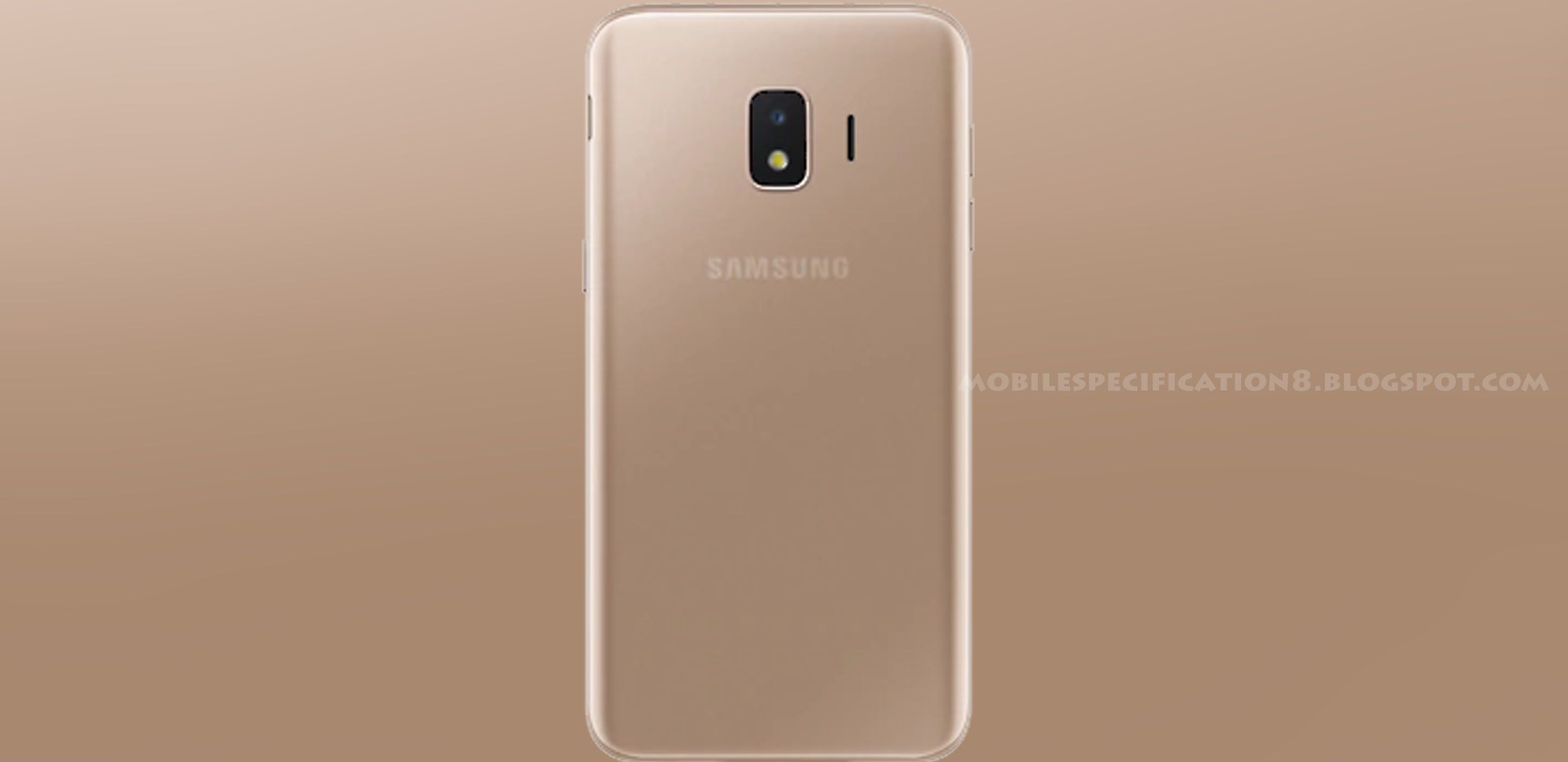 Samsung Galaxy J2 Core 2020 Gold Back Mobilespecification8 Samsung Galaxy Galaxy Samsung
