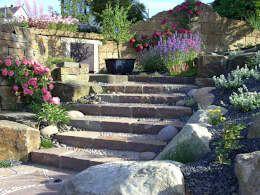 Luxury Treppe in den hinteren Garten mediterraner Garten von G rten f r Auge und Seele
