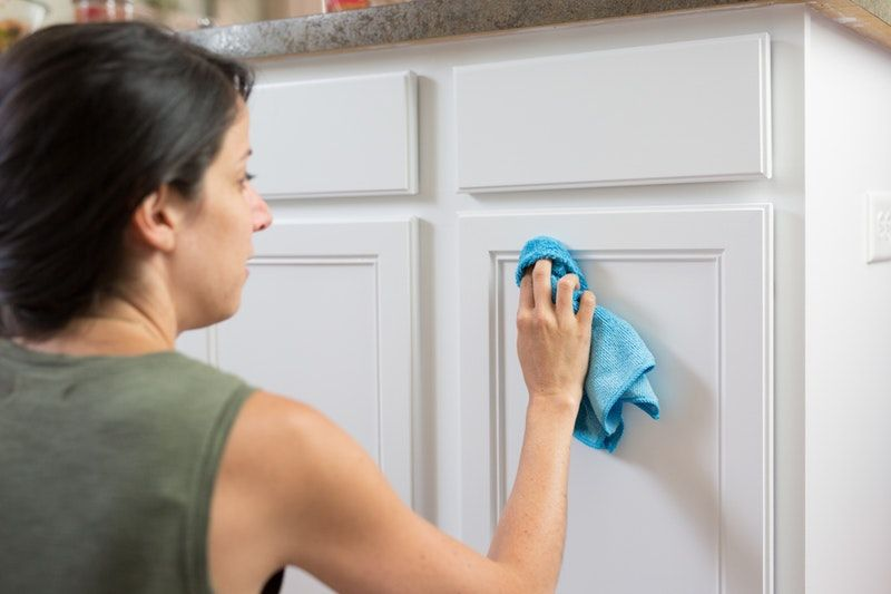 How To Clean Painted Wood Cabinets Kitchen Cupboard Doors Wood Cabinets Wood Kitchen Cabinets