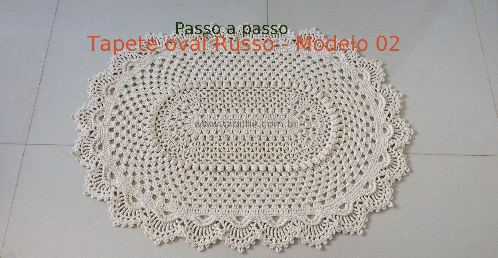 Tapete Oval Russo Modelo 2 Crochet Crochet Doilies And Crossstitch -> Tapete De Croche Oval Simples Passo A Passo