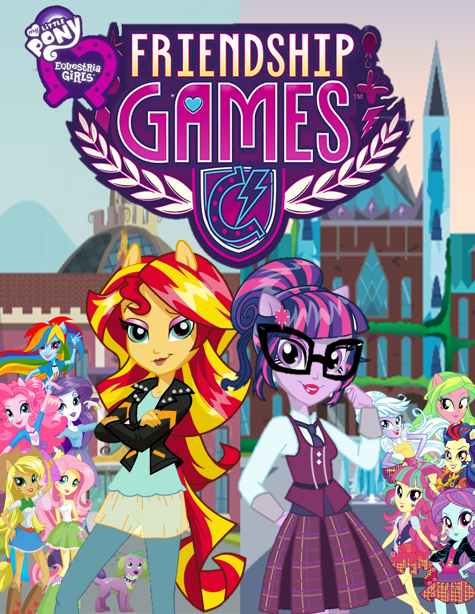 MLP EQG Friendship Games poster/cover (With images) | Mlp ...