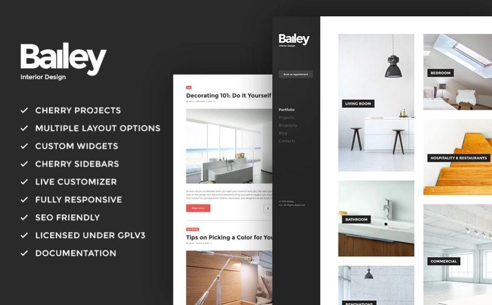 Bailey – Furniture & Interior Design WordPress Theme   Website ...