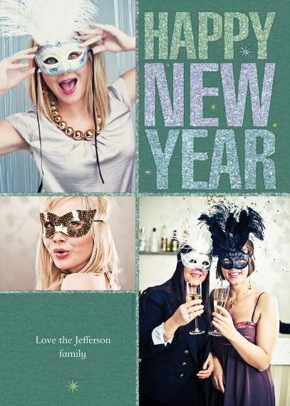 Personalized New Year S 5x7 Photo Cards Premium Cardstock 120lb With Rounded Corners Card Statio In 2020 Walgreens Photo Photo Cards 5x7 Cards