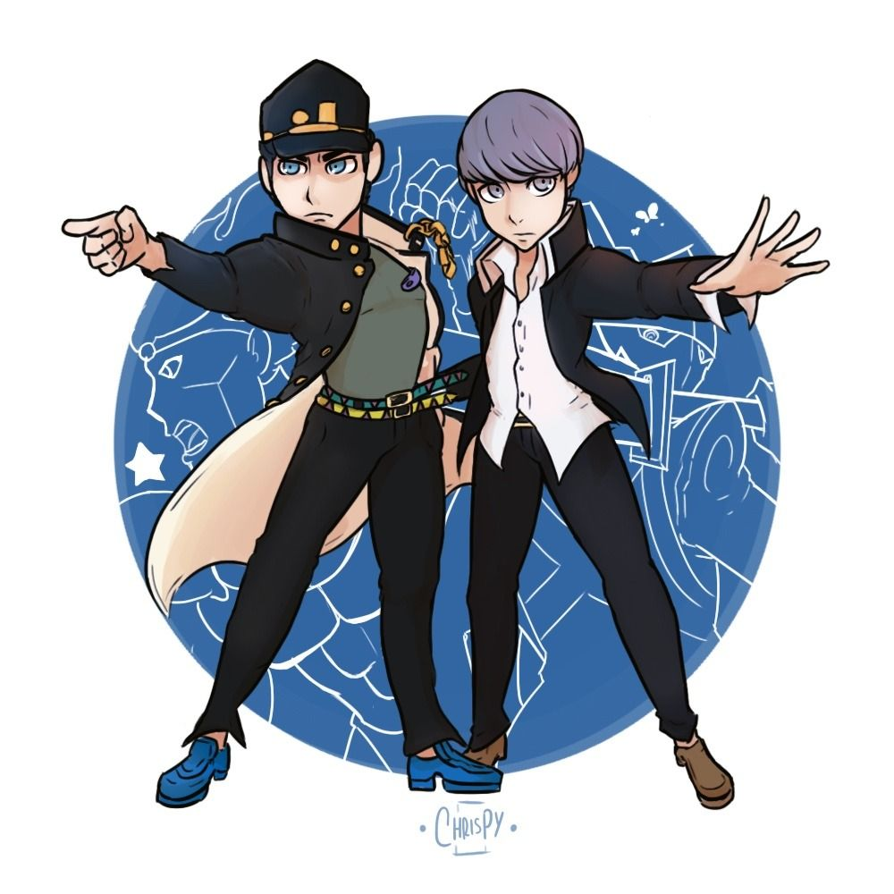 world of stands and personas part 2 of practicing character interactions this time we have yu from persona 4 and jotaro from persona 4 character persona practicing character interactions
