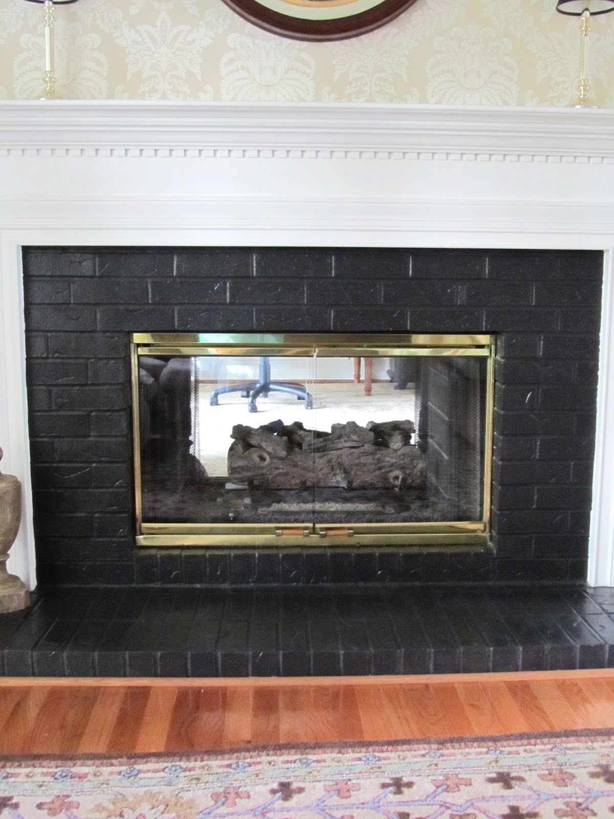 Painting Brick Fireplace Black Fireplace Pinterest Brick Fireplace Painting Brick
