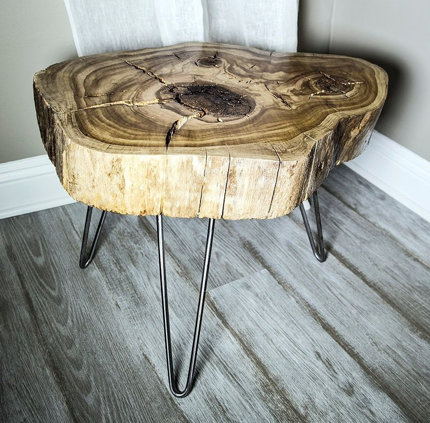 how to make wood slab table