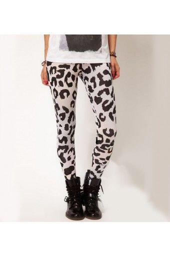 a230a8aa0c7bb $24.99 Black Leopard Print White Leggings @ MayKool.com   Little bit ...