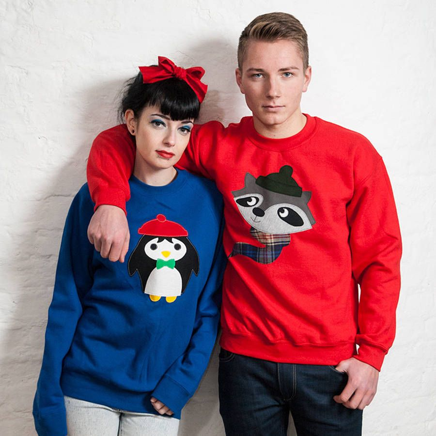 his and hers novelty christmas jumpers
