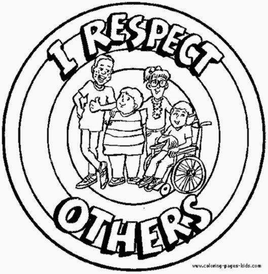 Respect Others Coloring Pages Character Education Respect Pinte
