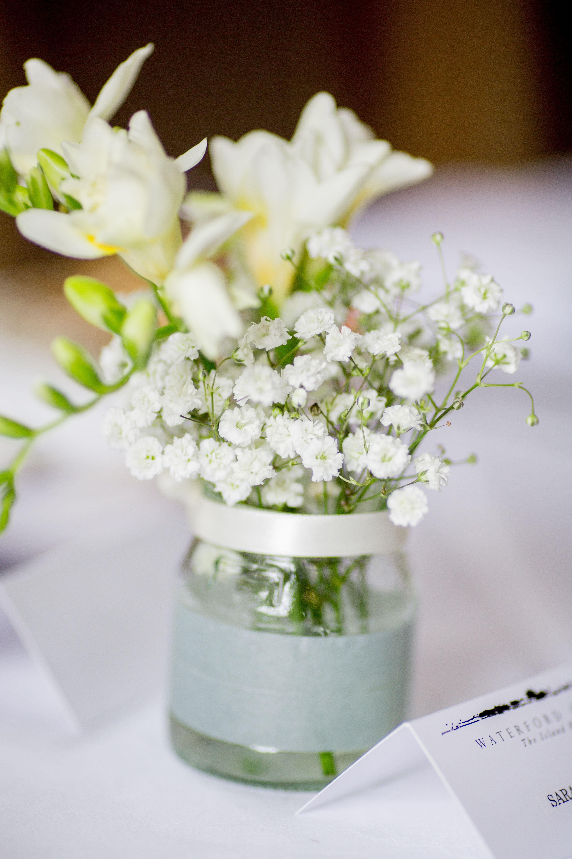 Wedding Decor Baby Breath Gypsophila And Ivory Freesia Flowers In
