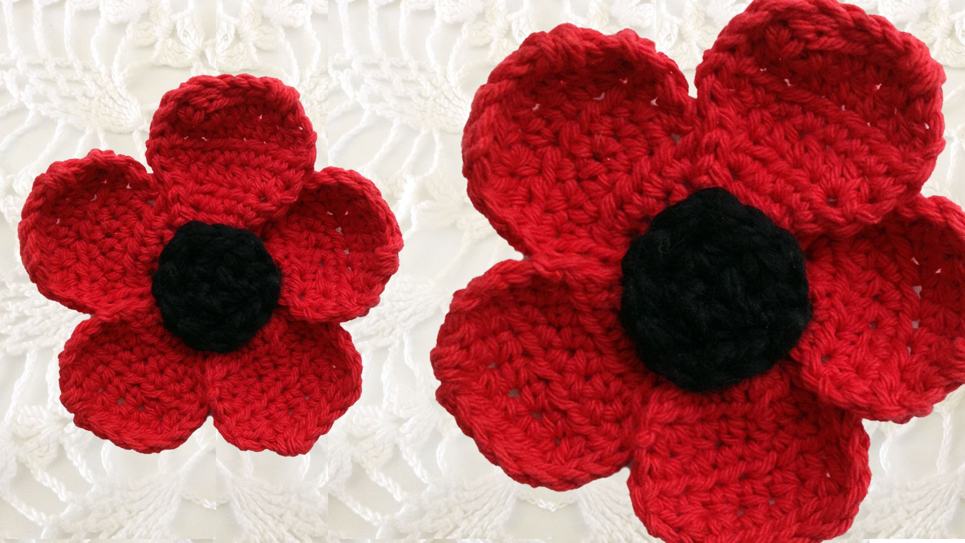 Maggies crochet poppy flower free pattern close up crochet maggies crochet poppy flower free pattern close up bankloansurffo Image collections