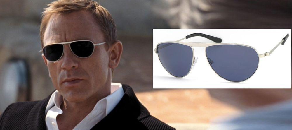 4f901c989b TOM FORD TF108 James Bond 007 19V Sunglasses Silver Frame Blue Lenses  AUTHENTIC  TomFord  Designer