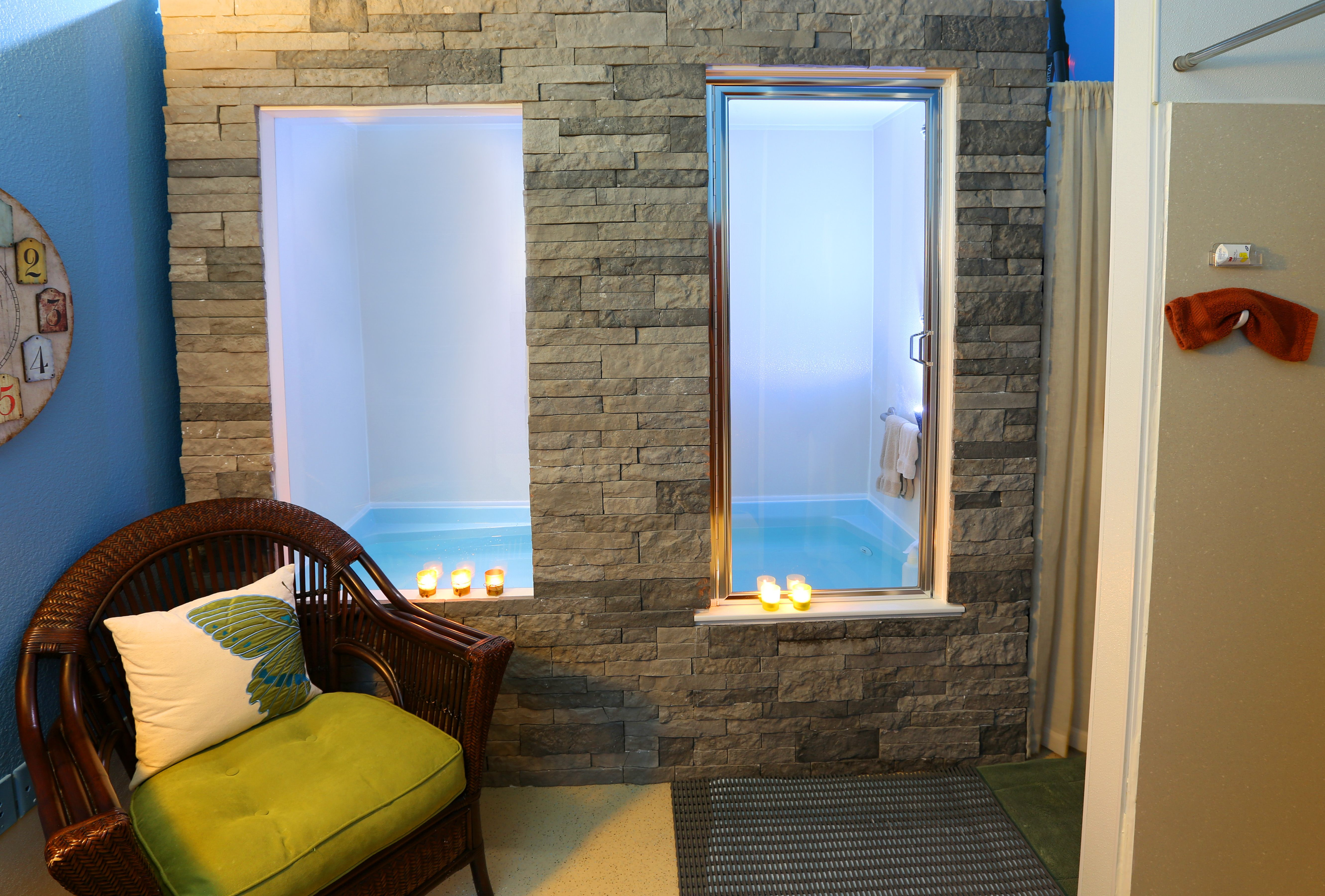 At Peace Floatation Cabin with rock exterior Colleyville. TX