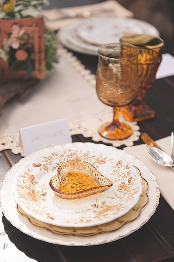Rustically elegant place setting | Orchestrated Stylized Shoots