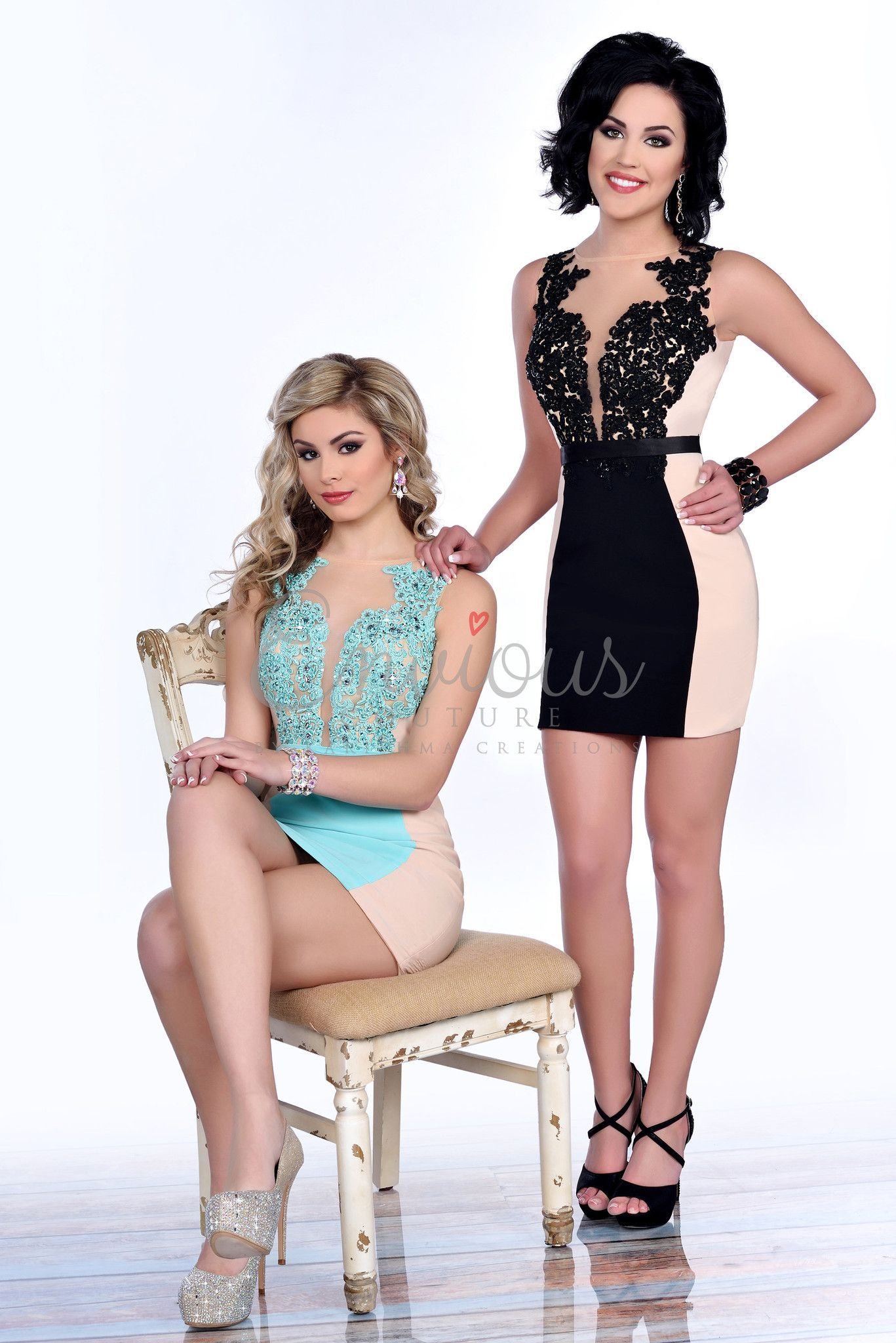 This dress is super unique and sexy with its lace neckline and jersey fit and it's at Rsvp Prom and Pageant, your source for the HOTTEST Prom and Pageant Dresses!