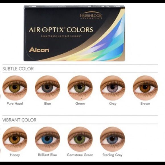 f43b119c20 Air Optix Colors - Gray Colored contacts in the color Gray. The lighter  your eye color, the more pronounced the color will be on you.