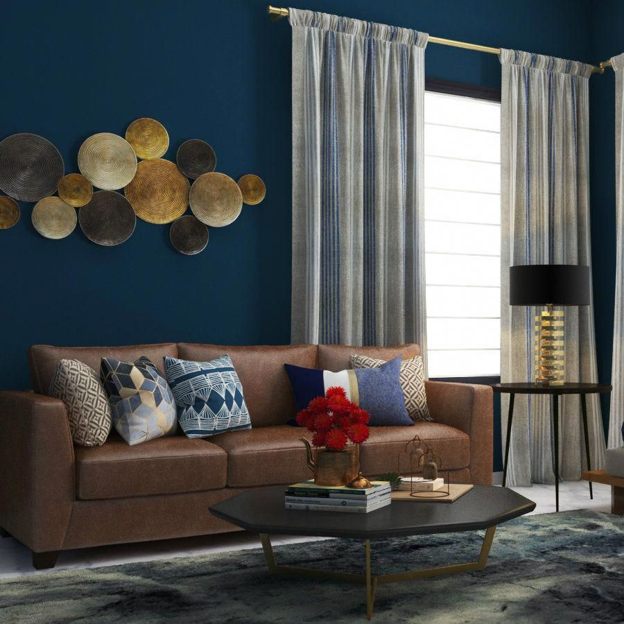 Loading Brown Living Room Decor Brown Living Room Brown Couch Decor Blue and chocolate brown living room