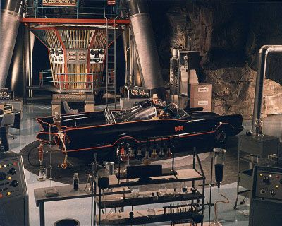 The Batmobile in the Batcave, '66 TV Show