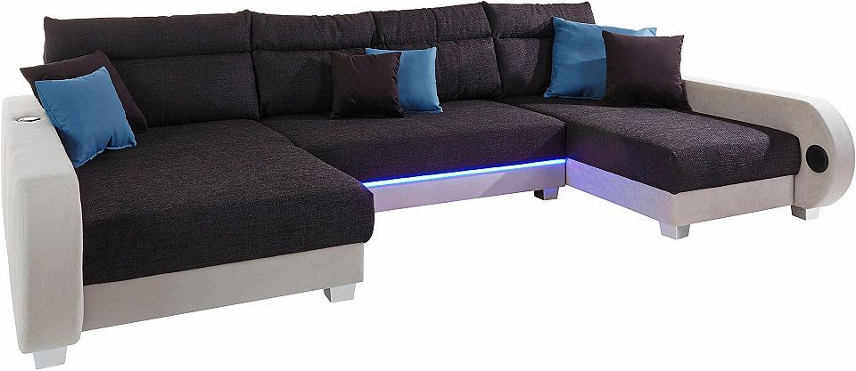 Spectacular Collection AB Wohnlandschaft inklusive LED Beleuchtung wahlweise mit Audio Bluetooth USB Jetzt