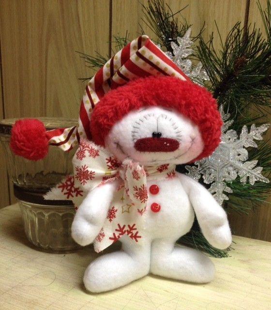 Primitive HC Raggedy Snowman Snowflake Christmas Doll 7.5 Super Cute! #IsntThatCute #Christmas