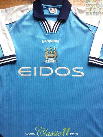 quality design 420dc 71298 Vintage Le Coq Sportif Manchester City replica home football ...
