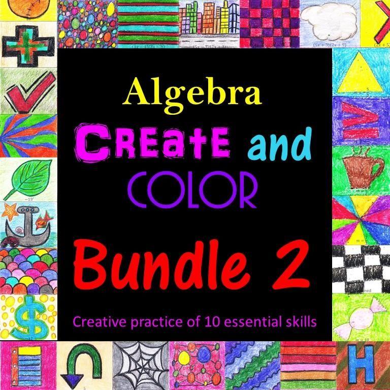 Algebra i create and color bundle 2 secondary math resources algebra i create and color bundle 2 fandeluxe Choice Image