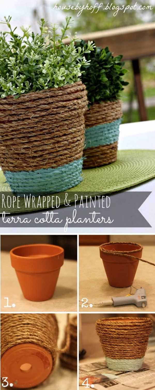Beautify Your Home And Garden With These Awesome DIY Flower Pots - Hative
